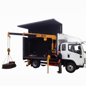 Best-selling model 5ton telescopic boom truck mounted crane used on forklift