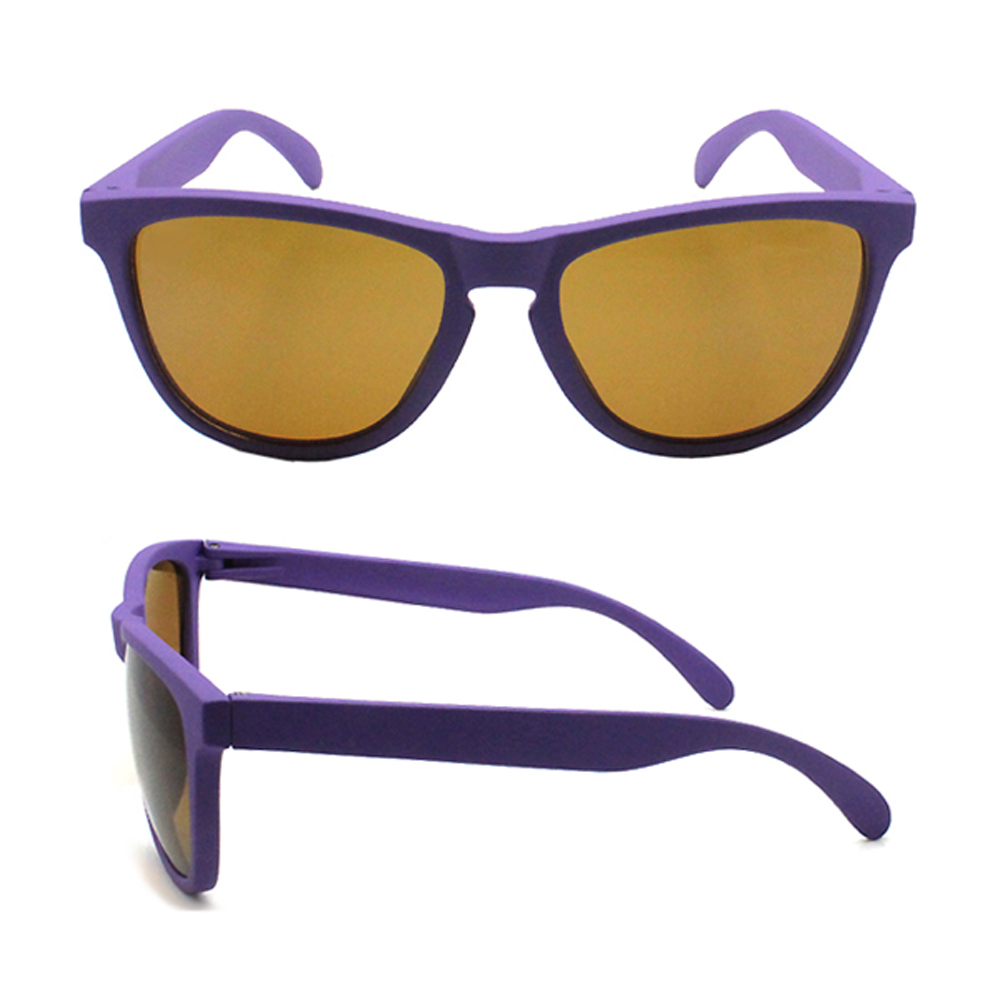 Custom Plastic italian design ce uv400 polarized purple sunglasses