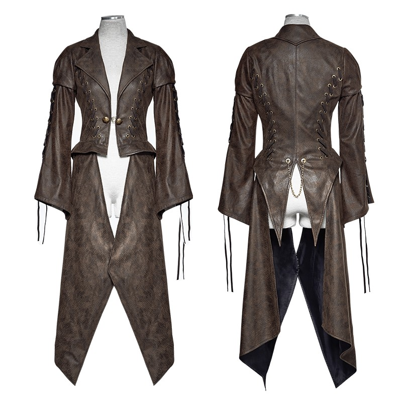Y-731 Punk Rave Steampunk Women's Asymmetrical Jacket Punk Clothing