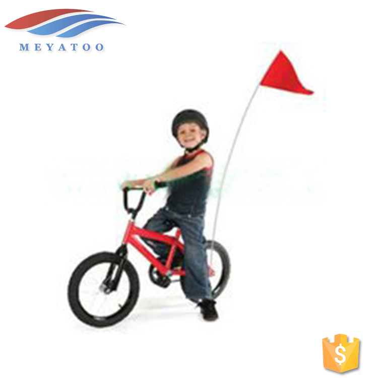 OEM ODM Promotional Polyester Fabric Cheap Custom Red Bicycle Safety Flags For Sale