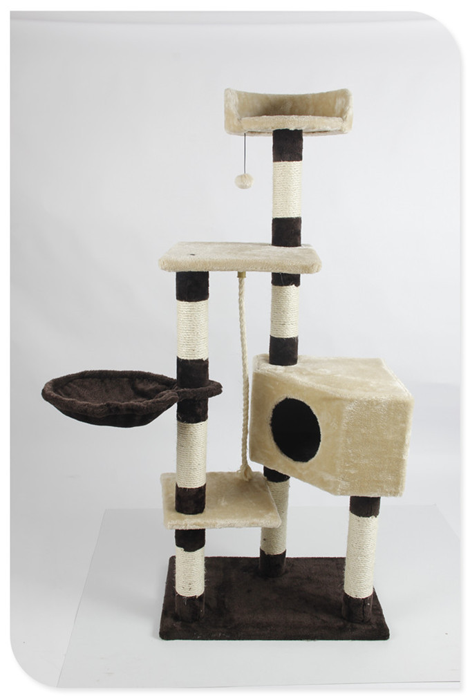 Pawhut Wooden Cat Furniture Deluxe Pet Play Toy Cat Tree House Buy Wooden Cat Furniture Deluxe