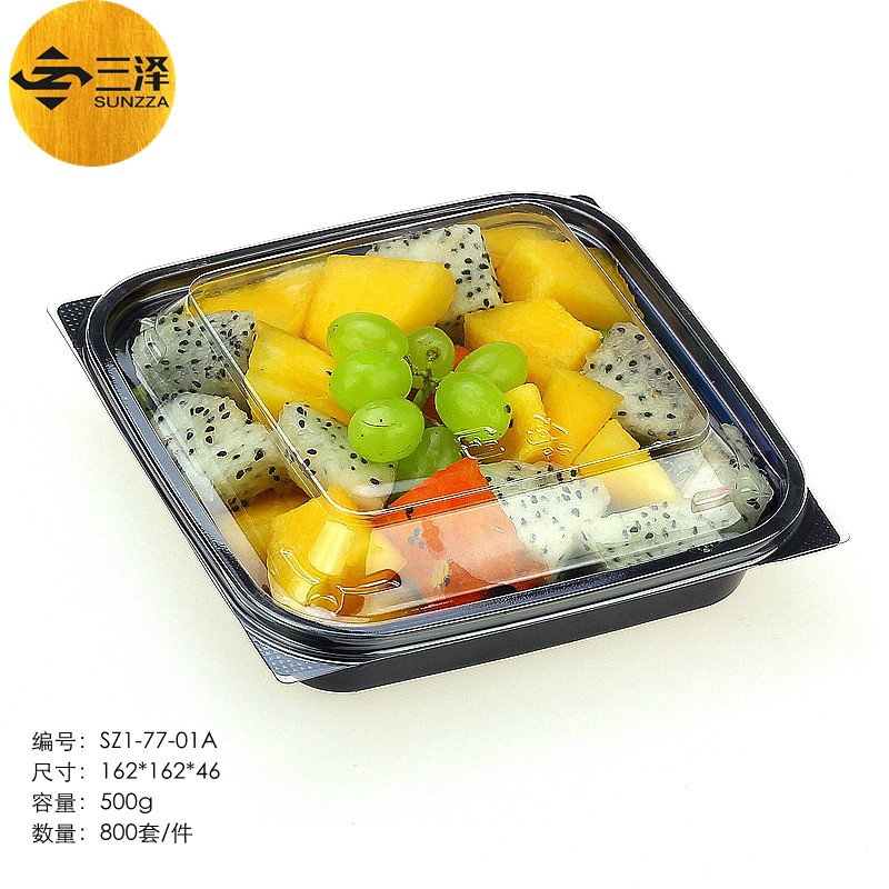 Disposable Blister Plastic Fruit Container/ Vegetable Container/ Salad Packaging Box for Take Ou professional manufacturer