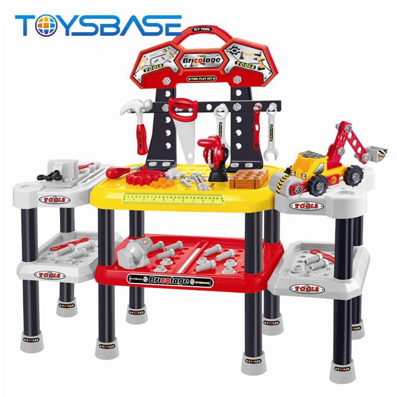 DIY Набор инструментов игрушки-детей притворяться, играть дошкольного пластиковые портативный набор инструментов