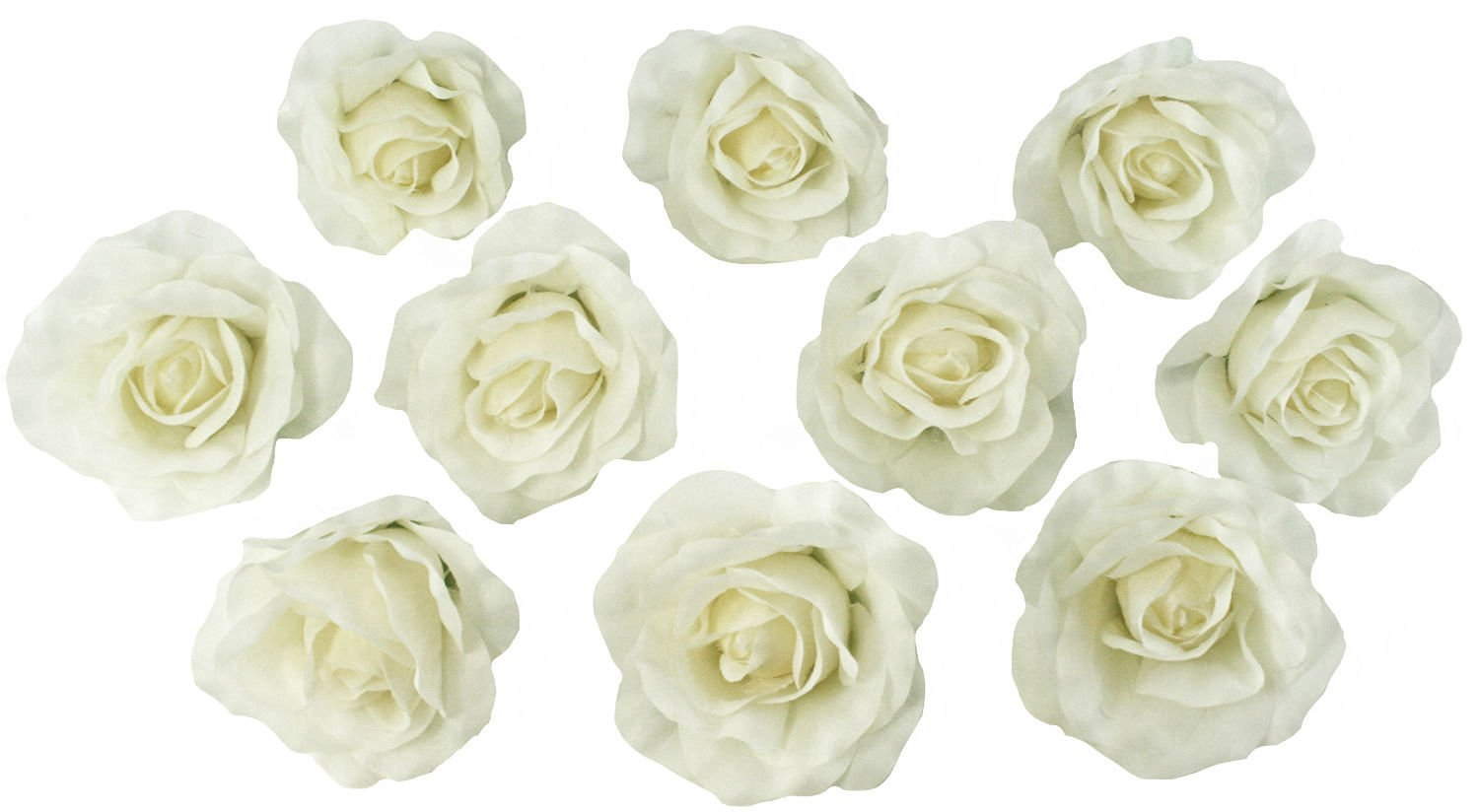 Buy 10 ivory rose heads silk flower weddingreception table 10 ivory rose heads silk flower weddingreception table decorations bulk silk flowers izmirmasajfo