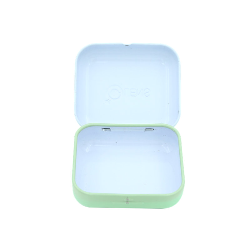 Portable High Quality Mini Metal Square Contact Lenses Tin Case