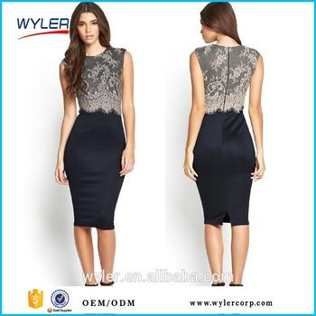 6e78cdd53 2016 nuevas mujeres longitud de la rodilla elegante otoño bodycon lápiz vestido  casual vestido Oficina para