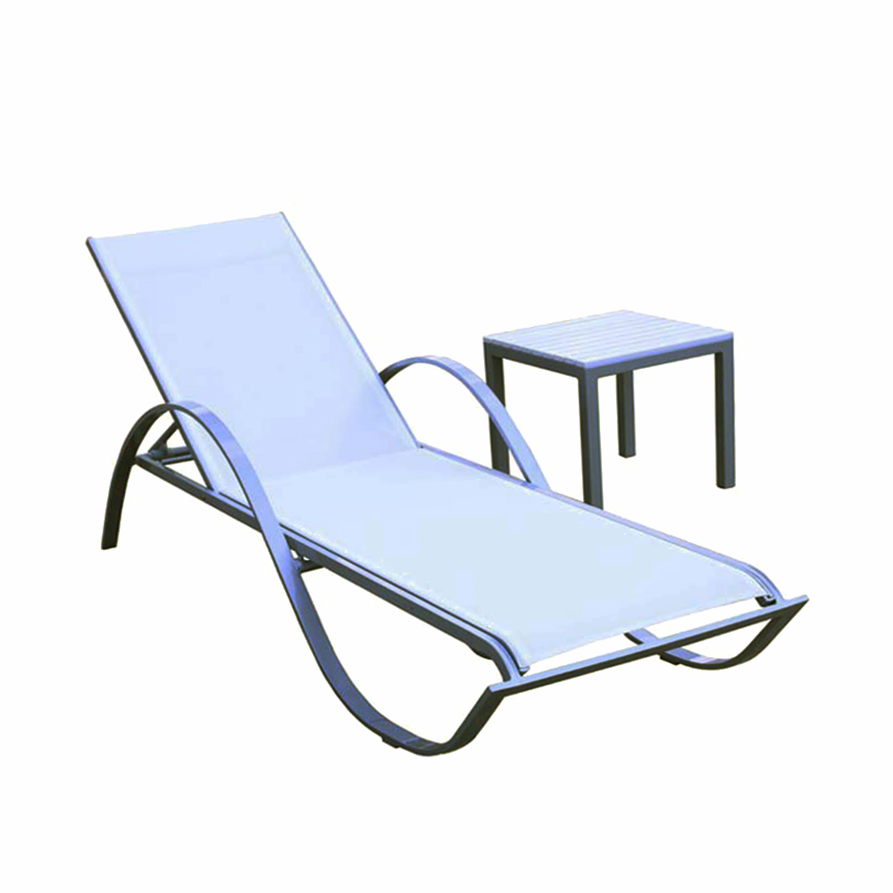 Hot Sale PVC fabric portable luxury outdoor chaise folding beach lounge chair