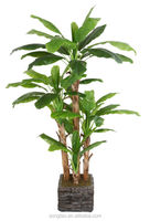 Many kinds of bonsai artificial tree mini plastic banana tree for indoor home decorative