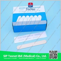 Disposable Sterile Wooden Waxing Spatulas Tongue Depressor