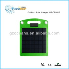 Outdoor solar charger OS-OP041B super convinent 4W portable panel for iPhone Samsung Blackberry HTC Nokia and digital product