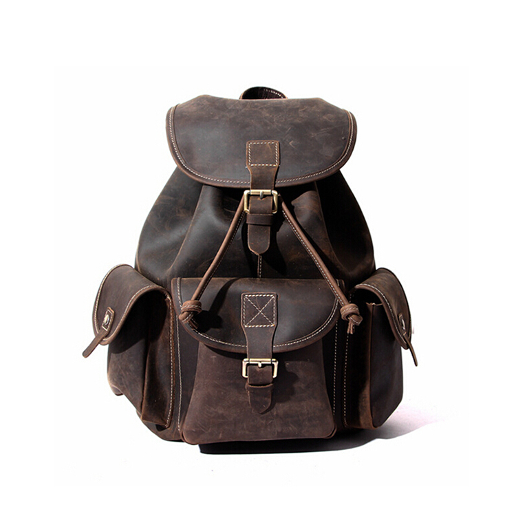 Wholesale fashion vintage women leather backpack