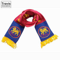Football Club Crochet Pattern Acrylic Team Winter Scarves With Fringes