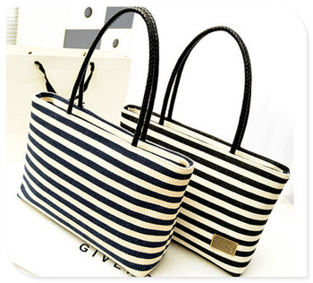 Fashion Tote Bag Canvas Stripe Handbags College S Best Ing 2017