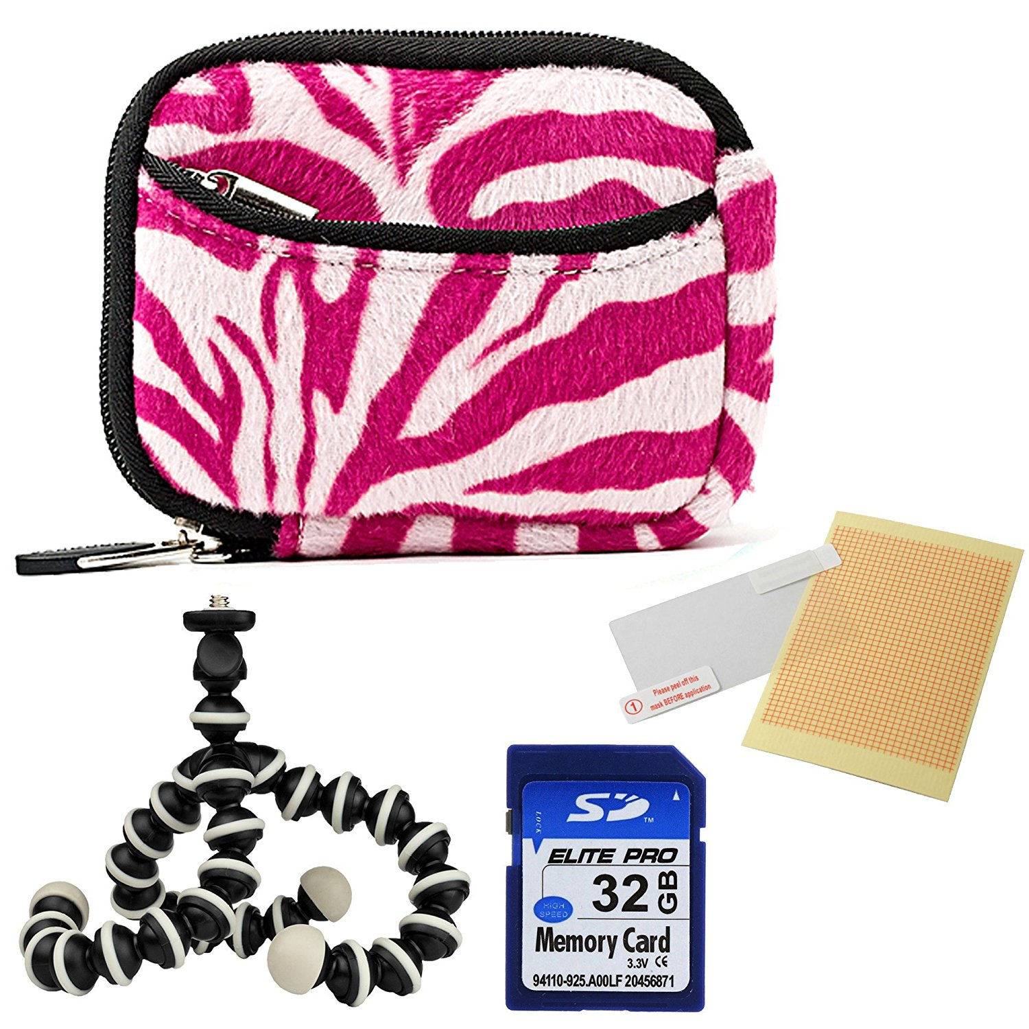 VanGoddy Mini Glove Sleeve Pouch Case for Sony Cyber Shot DSC Series Digital Cameras Magenta and Black