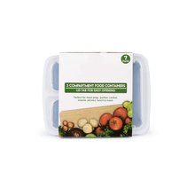 3 Compartment BPA Free Meal Prep Containers. Reusable Plastic Food Containers with Lids. Stackable, Microwavable, Freezer & Dish