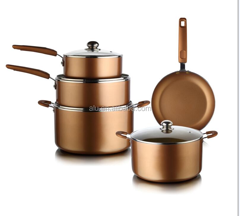 Aluminum Nonstick Ceramic Coating Copper Color Cookware