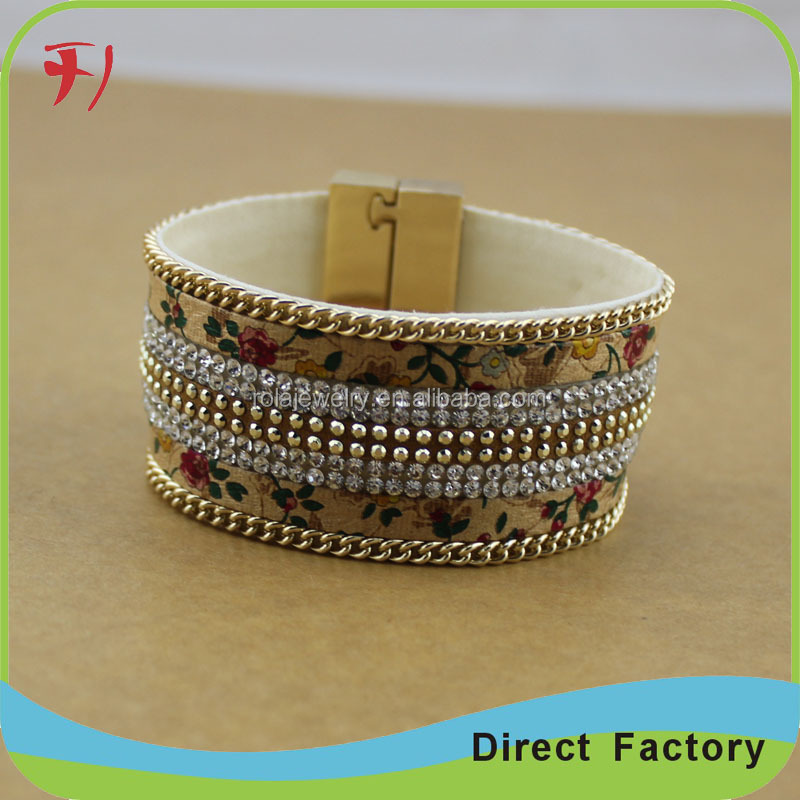 high quality fashion alloy multilayer weave leather charm bracelet