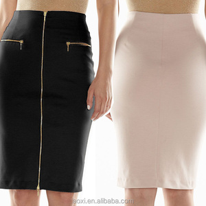 41e7816a7a1e Oem service China factory plain pattern zipper formal wear women tight long  skirts