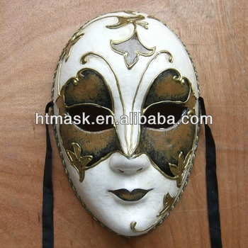 Hand Painting Mask Full Face Mask Paper Halloween Party Mask