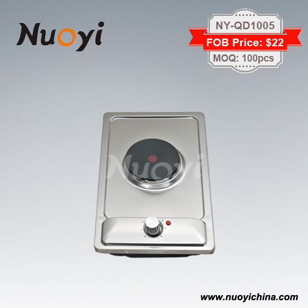One Burner Electric Stove 2000w Hot Plate With 300mm Stainless Steel Surface Vertical Hob 300 520mm