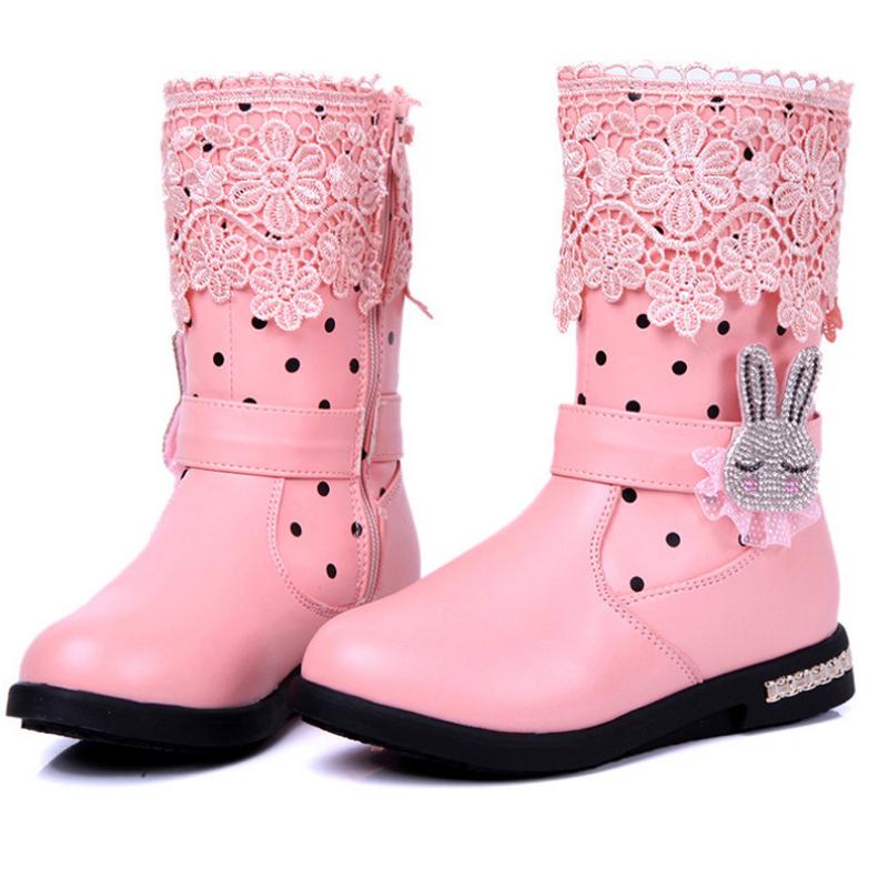 Wonderbaar Buy New Girl's Winter Snow Boots Fur PU Leather For Children LC-61