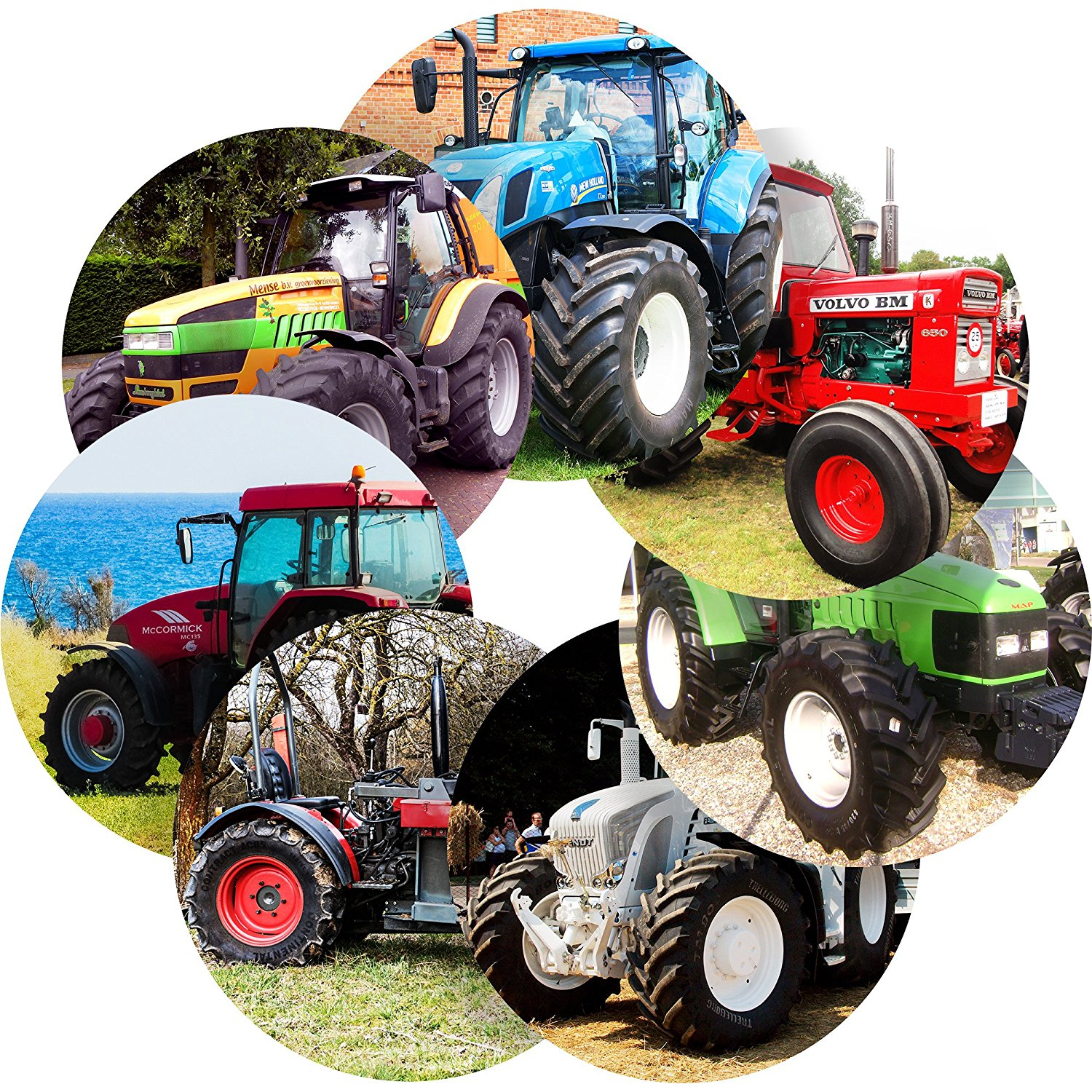 """Awesome Tractors Reward Sticker Labels, 35 Stickers @ 1.4"""" inch, Glossy Photo Quality, Ideal for Children Parents Teachers Schools Doctors Nurses Opticians"""