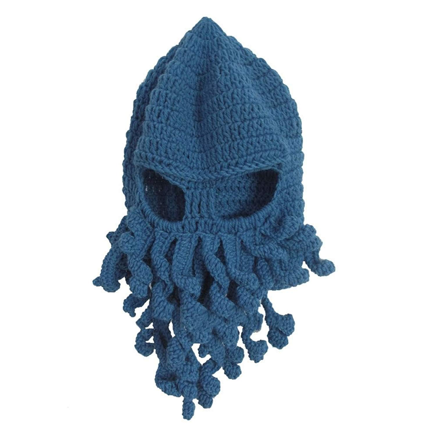 Hot Sale Creative Funny Unisex Tentacle Octopus Knit Beanie Hats Wind Ski Mask Cosplay Caps 2016 Men's Hats