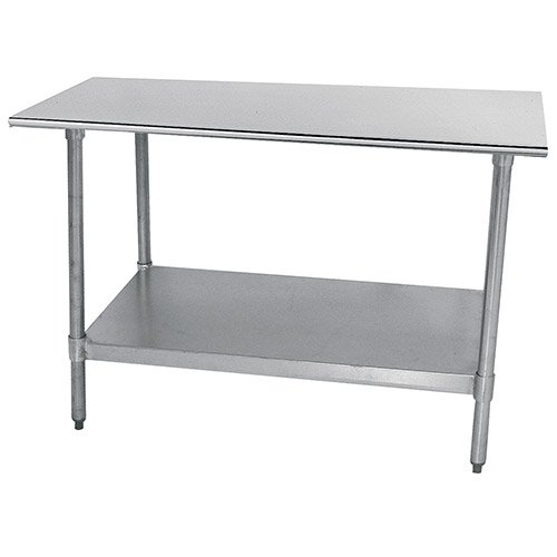 "Economy Stainless Steel Top Workbench Size: 35.5"" H x 96"" W x 30"" D, Finish: Galvanized"