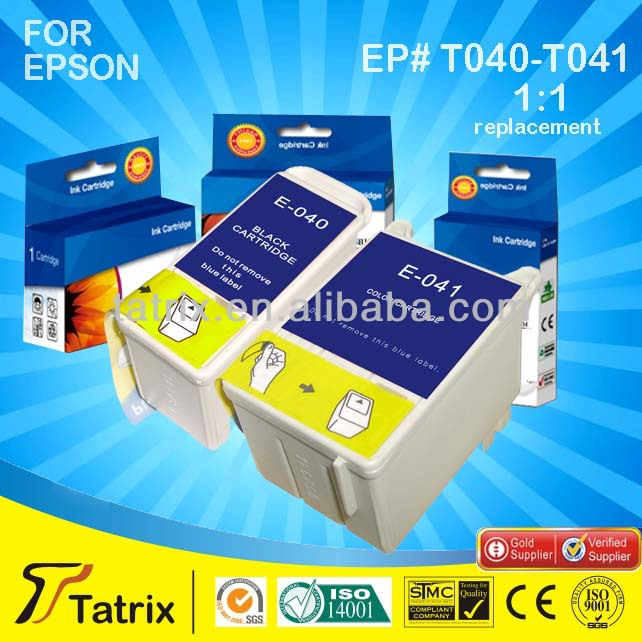 Compatible ink CartridgesT040-T041 for Epson Use in Stylus C62 Laserjet Printer