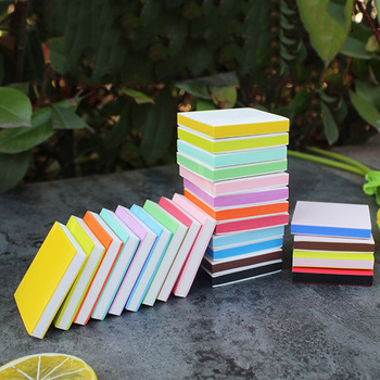 5*5*0.8cm 25 Colors Rubber Stamp Carving Blocks For Stamps