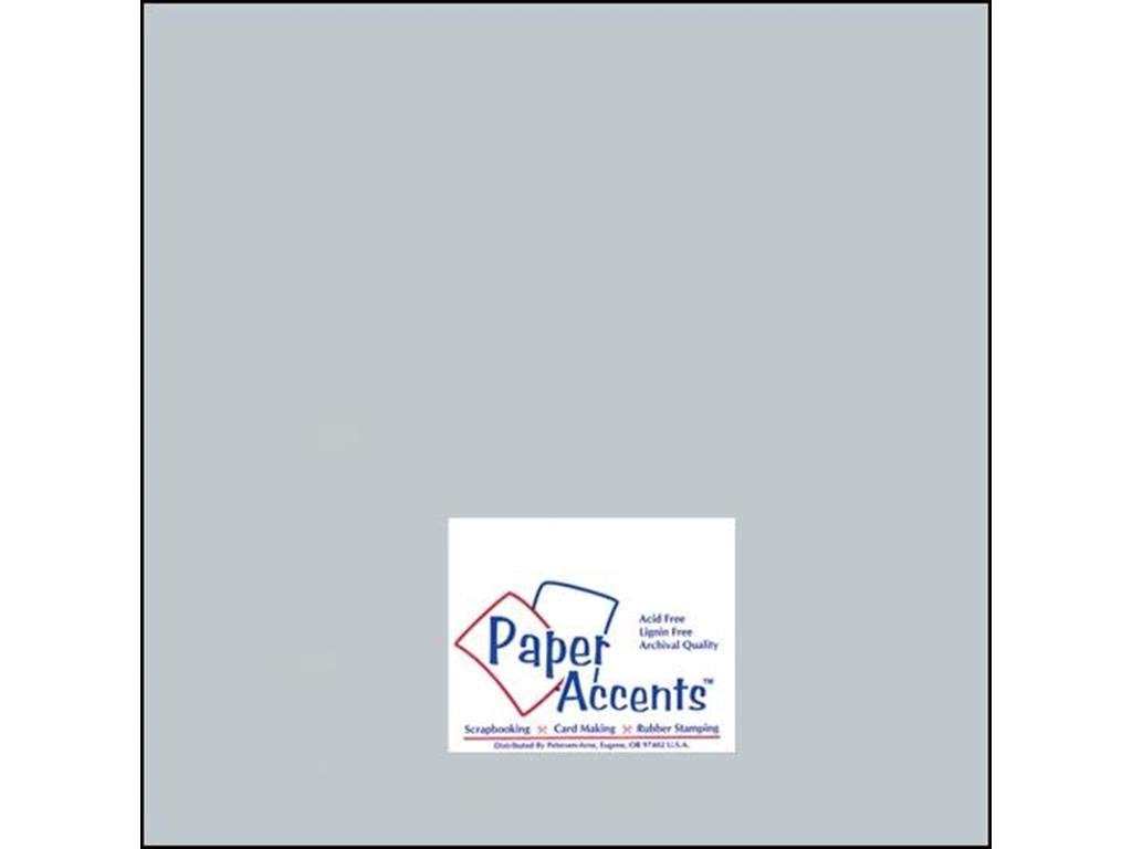 """Accent Design Paper Accents ADP1212-25.897 No.80 12"""" x 12"""" Slate Paper Pearlized Card Stock"""