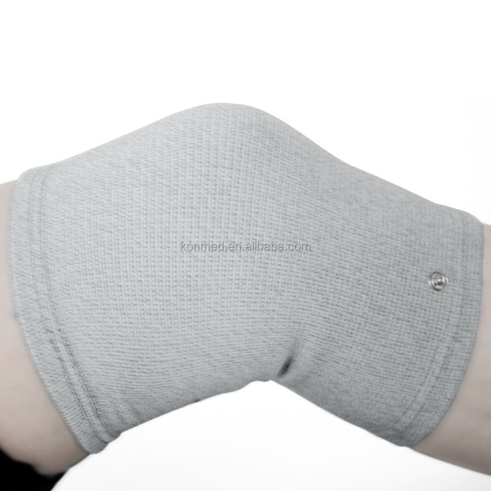 Breathable Silver Fiber Knee Support for TENS Massager Device Electrical Knee Sleeve