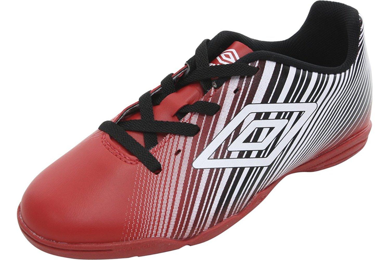 5f7cb88945 Get Quotations · Umbro Men s Slice II Red Black White Indoor Soccer  Sneakers Shoes