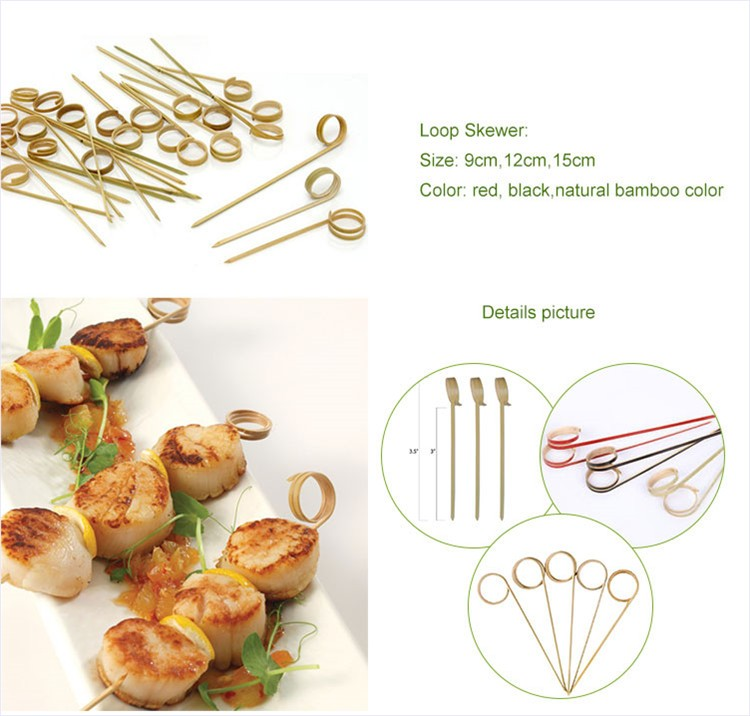 Wedding table centerpieces bamboo skewer knotted cocktail picks
