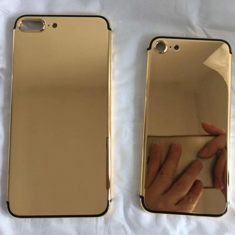 luxury custom for iPhone 7 24k gold plated housing