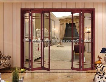 Aluminium Toilet Interior Temporary Folding Door Design