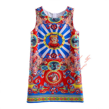 New Arrivals Girl Dresses With Pattern Girl Vest Skirt Dress European And American Styles Kids Wear GD90124-527F