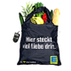 German Supermarket Recycling Polyester Foldable Shopping Bag Foldaway Recycle Polyester Bag