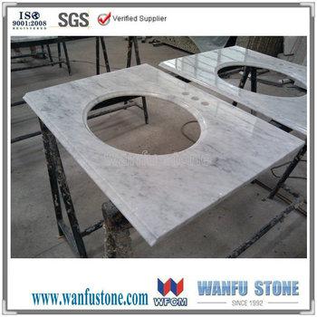 White Carrara Marble Vanity Topcultured Marble Discount Bathroom