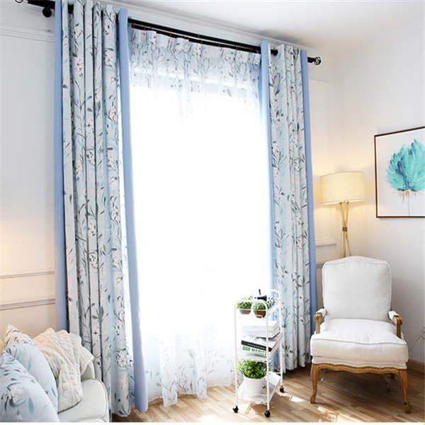 Cheap cutains church curtains automatic window curtains for the living room
