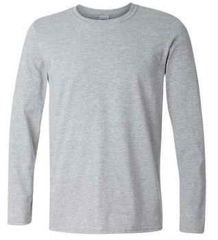 Custom Plain T Shirt Mens Long Night Shirt Long Sleeve T Shirts 823287f96