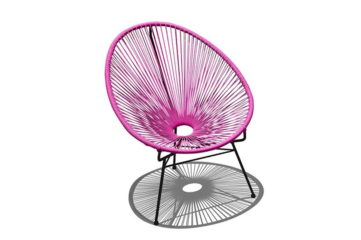 Harmonia Living HL-ACA-LC-HPB Acapulco Lounge Chair, Hot Pink