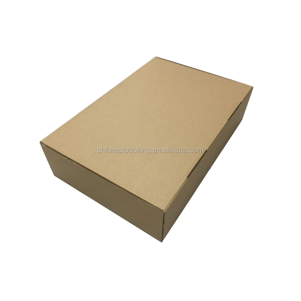 Durable kraft two colors custom logo design carton packaging box