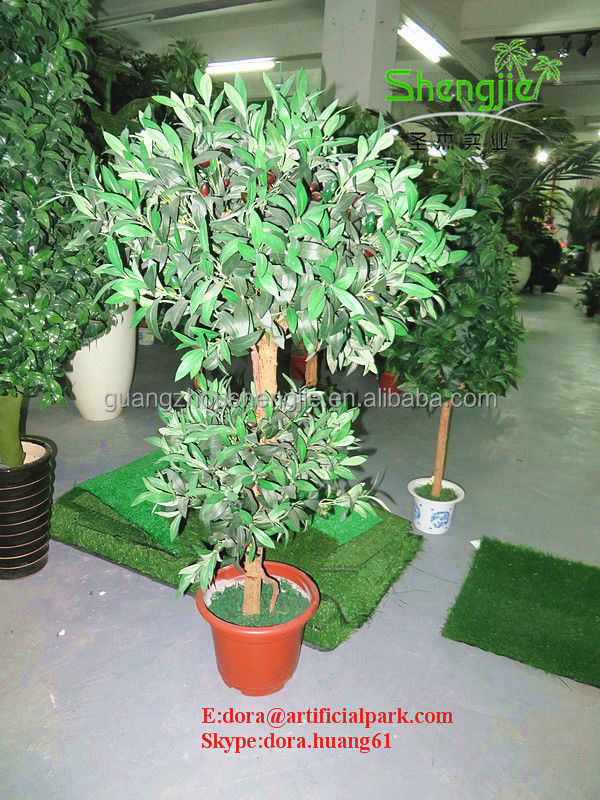 SJH1410451 home artificial bonsai tree ornamental olive tree 120cm artificial olive tree