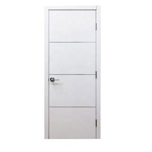 Cheapest 2017 New Design Interior PVC coated MDF Wooden Doors for rooms