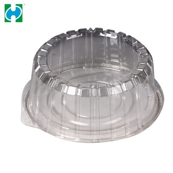 High Quality Custom Design Round Plastic Cake Transparent Disposable Cake Box
