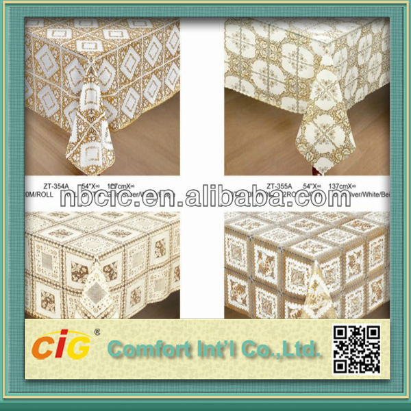 54'' Plastic Vinly PVC Table Cloth Cover Lace in Roll