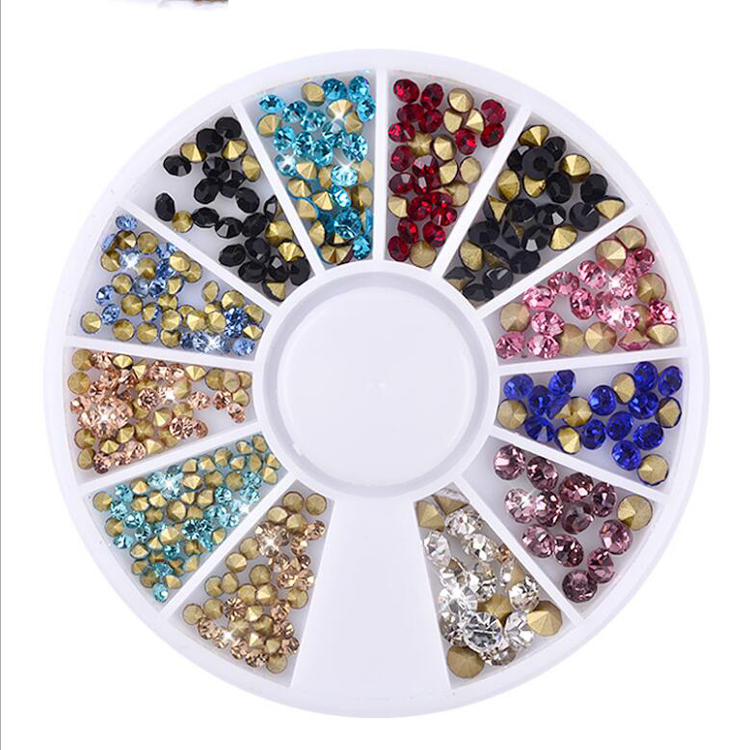 Sharpe Bottom 2mm 3mm Mixed Color A Grade Nail Art Rhinestone Crystal