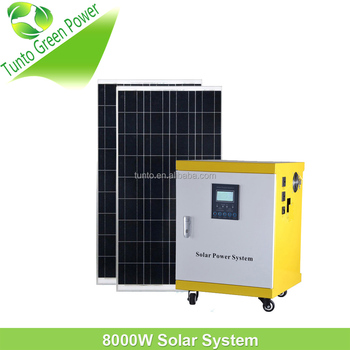 8kw Off-grid Complete Package Solar Power System For Home ...