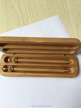 Eco bamboo pen box twins set for gift